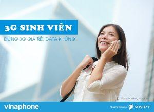 Các gói cước 3G sinh viên Vinaphone